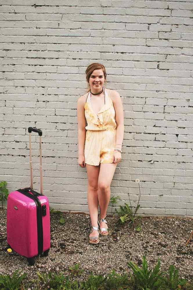 Travelin' Around Yellow Romper