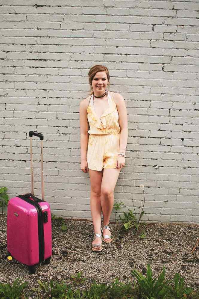 Travelin' Around Yellow Romper