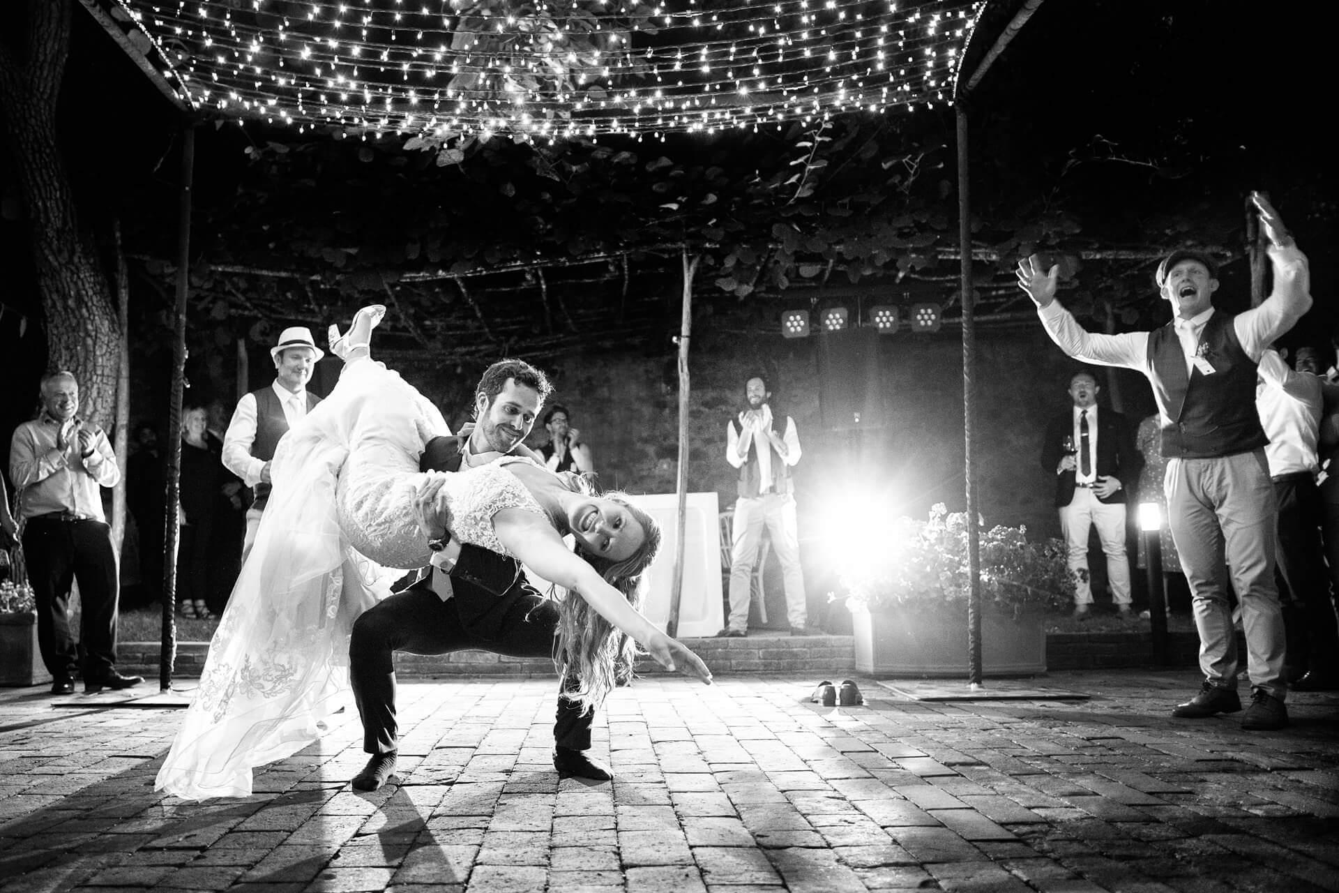 wedding dance tuscany fun