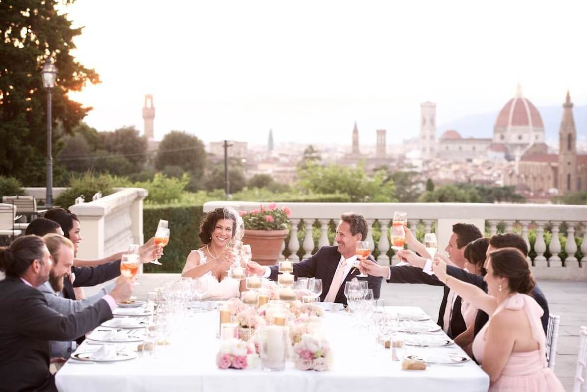 magical sunset reception Florence