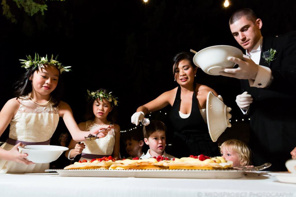 live cake making wedding