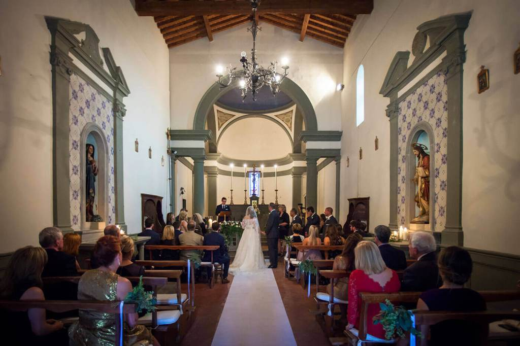 The ceremony begins in the Church