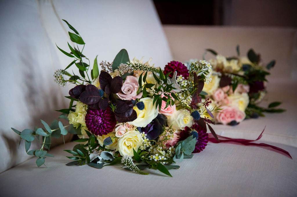 The bride chose glorious flowers for the bouquets