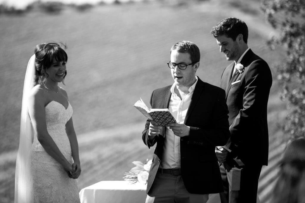 Caroline & Richard civil ceremony in Tuscany