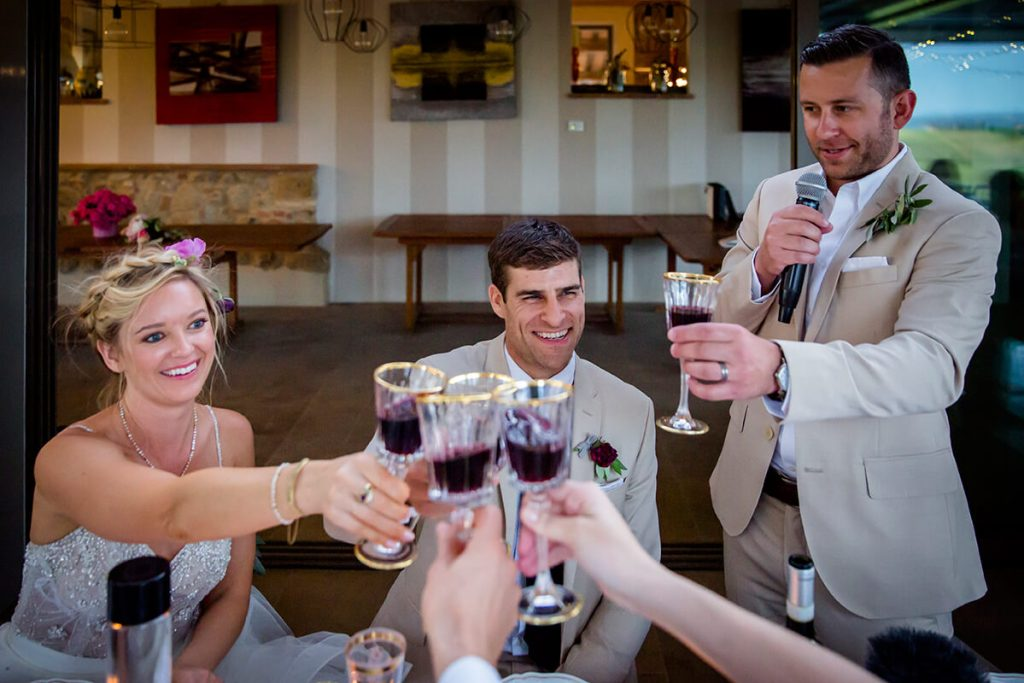 A toast to the marriage of Lauren & Ben