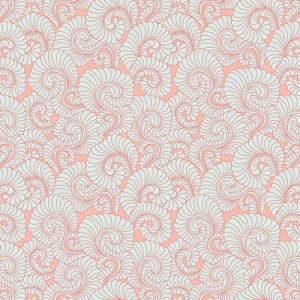 Feathered Coral Light - bomuldsstof