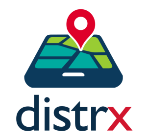 distrx's logo - colored - white background