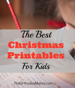 The Best Christmas Printables for Kids