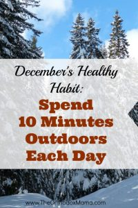 December's Healthy Habit: Spend 10 Minutes Outdoors Each Day