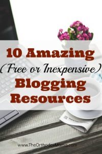10 Amazing (FREE or Inexpensive!) Blogging Resources
