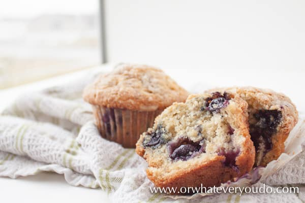 Best Blueberry Buttermilk Muffins from OrWhateverYouDo.com
