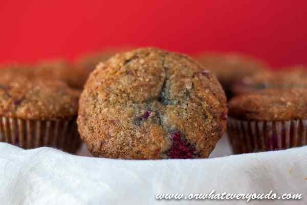 Lemon Raspberry Muffins from OrWhateverYouDo.com