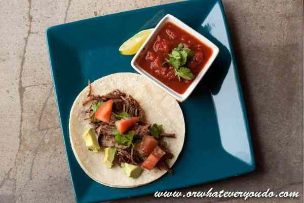 Tequila Lime Shredded Beef Tacos