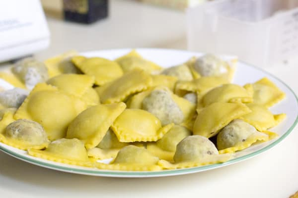 Beef & Mushroom Ravioli I www.orwhateveryoudo.com I #recipe #food #cooking #scratch