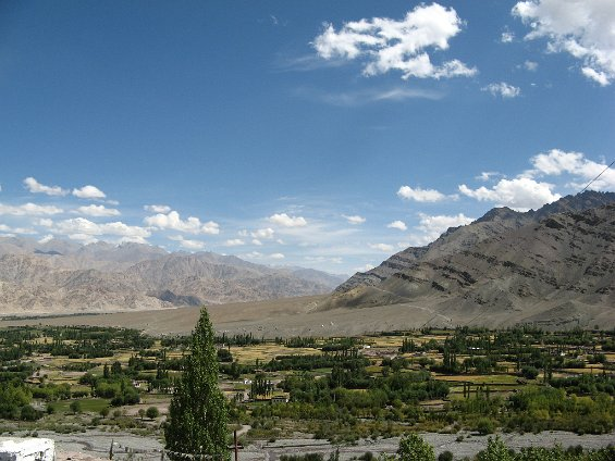 The Indus river valley south of Leh
