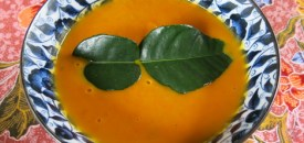Coconut, Carrot and Pumpkin Soup with Kaffir Lime