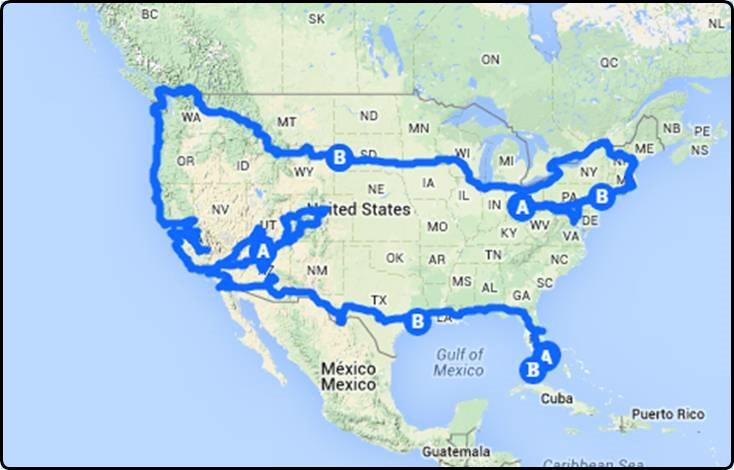 צפון אמריקה - 8 חודשים בקרוואן