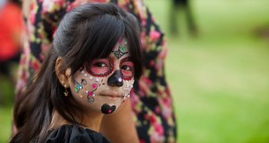 Kimberly, eight years-old of Oceanside at Dia de los Muertos, Mission San Luis Rey