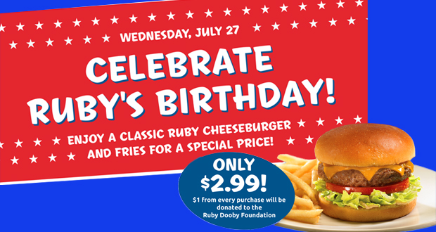Ruby's Diner to Hold Burger Day and Kick Off Ruby Dooby Foundation