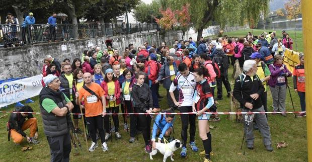 Preto de 200 participantes na andaina e trail do Barco