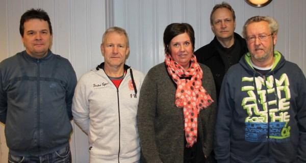 Hovedstyret 2015: Jørn Jensen, Fred Wernersen, May-Britt Fossegaard, Espen Nilsen, Tom Johnsen. Sveien Erik Syvertsen og Ann Helen Webjørnsen var ikke tilstede da bildet ble tatt
