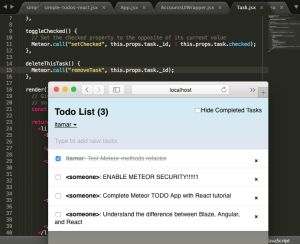 React ToDo App, step 10 implementation - seeing that everything works again after refactoring logic using methods