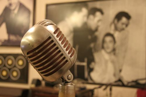 Microphone at Sun Studios