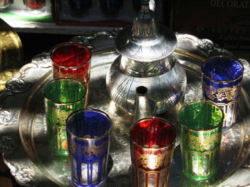 Colorful tea set