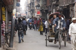 The busy streets of Kathmandu