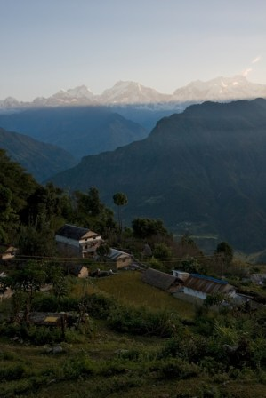 The hilltop village of Puma at Sunrise