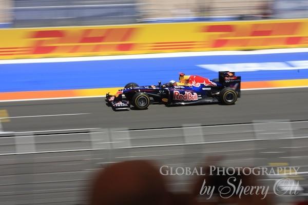 F1 panning shot