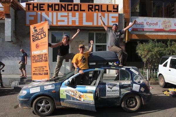 mongol rally finish