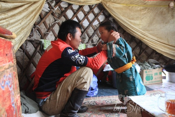 mongolia father and son