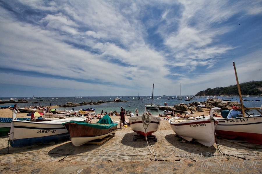 fishing boats calella de palafrugell costa brava spain