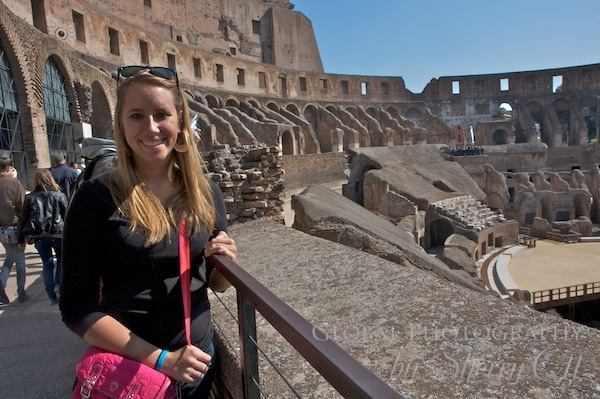 Coliseum generations - my niece in 2012