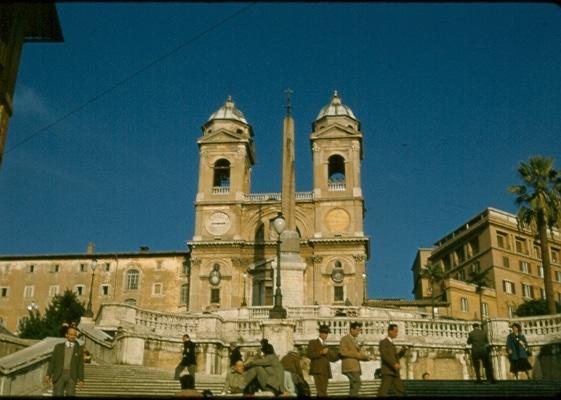 Spanish Steps 1956