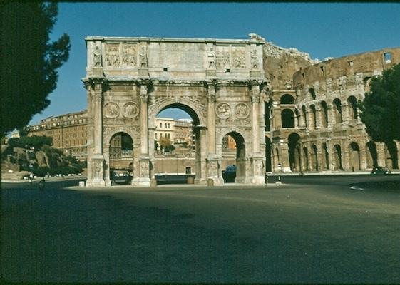 Arch of Constantine 1956 - no gates