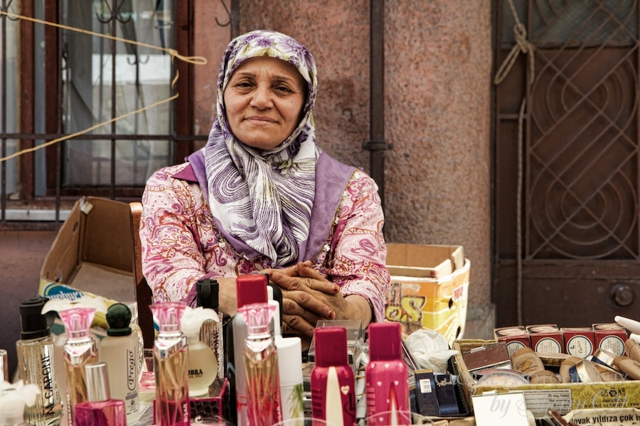 turkish woman at the market