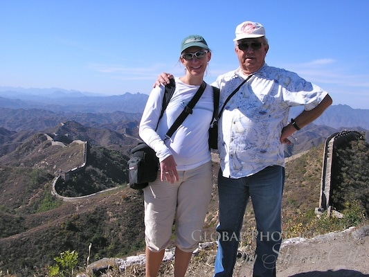 My dad and me at the Great WAll