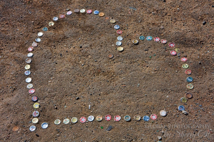 A heart made out of bottle caps in Berlin