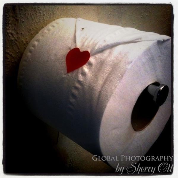 heart toilet paper