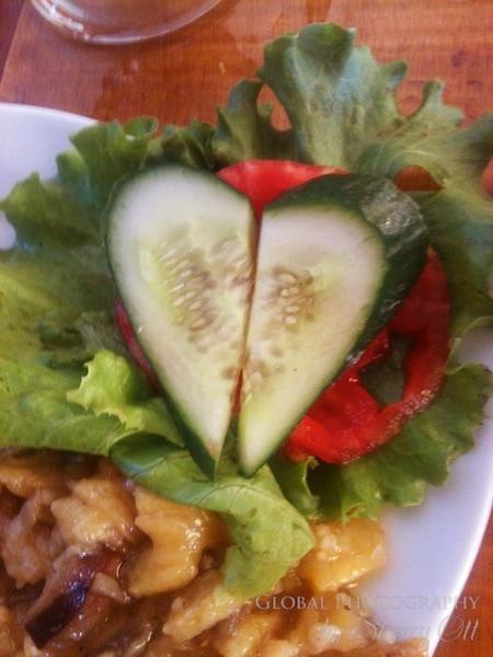 Cucumber heart