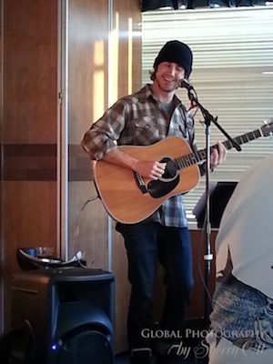 Parker entertaining us with his original songs in the Polar Bear Lounge