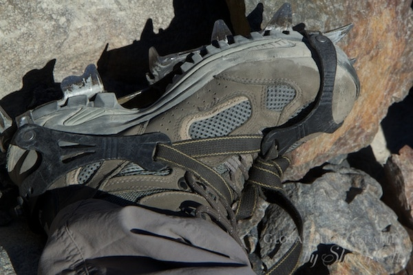 crampons glacier hiking
