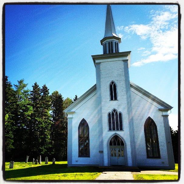 church and god rays