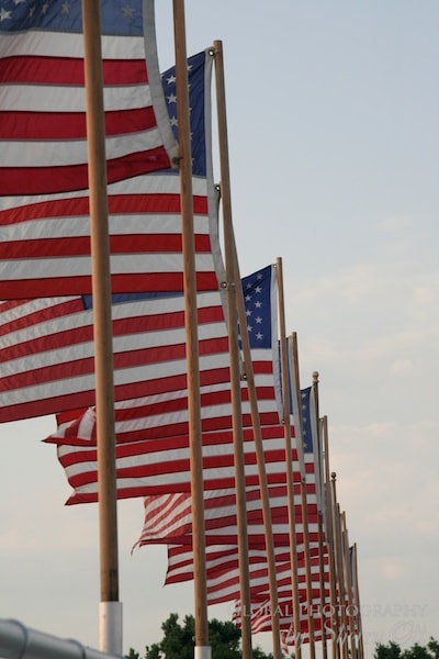 line of flags