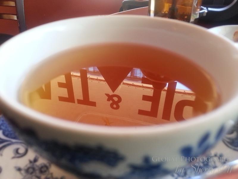 tea cup reflection