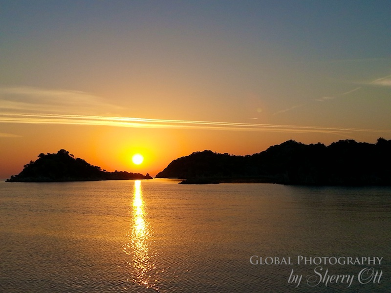 phaselis turkey sunset