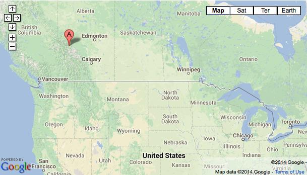 Jasper canada map