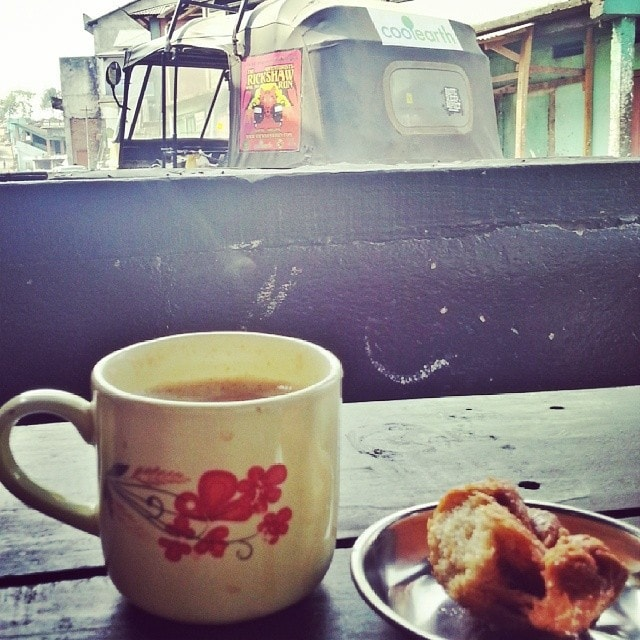 one last chai tea in India on the Rickshaw Run